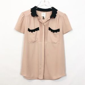 HD in Paris Cream Short Sleeve Blouse 4